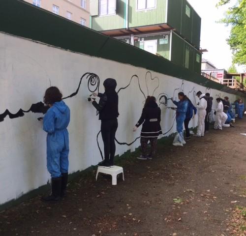 Tvillingehallen: Hundertwasser i hegnet 2015